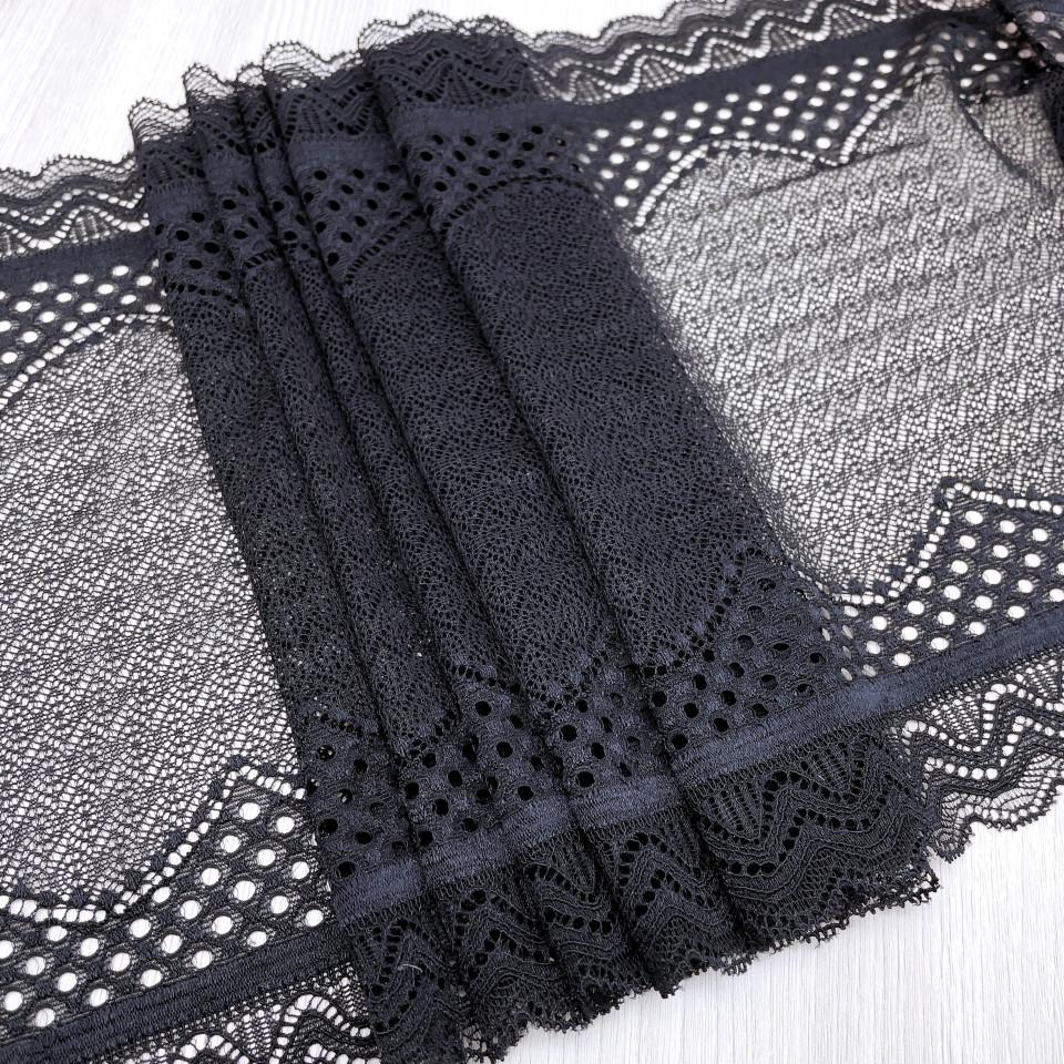 Эластичное кружево Э797 цвет черный