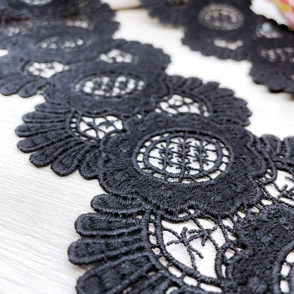 Кружево макраме М200 цвет чёрный