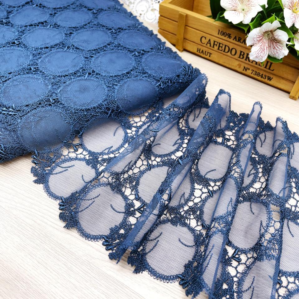 Вышивка на сетке В894 цвет синий