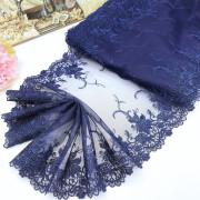 Вышивка на сетке В907 цвет тёмно-синий