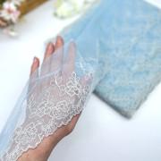 Вышивка на сетке В906 цвет голубой