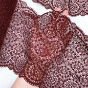Эластичное кружево Э776 цвет винный