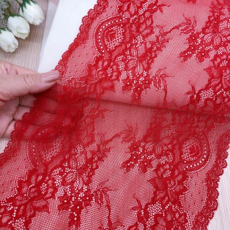 Эластичное кружево Э789 цвет красный