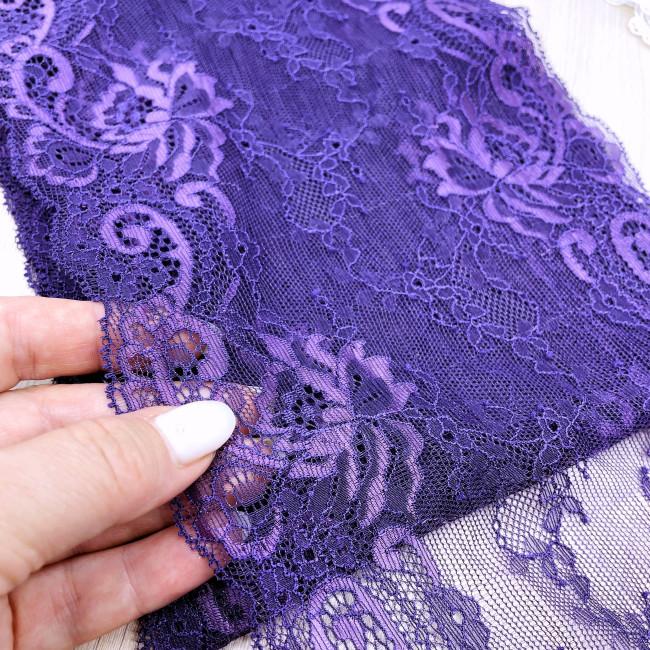 Эластичное кружево Э796 цвет фиолетовый