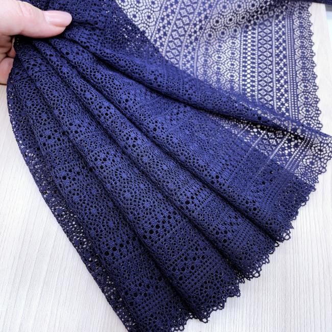 Эластичное кружево Э787 цвет тёмно-синий