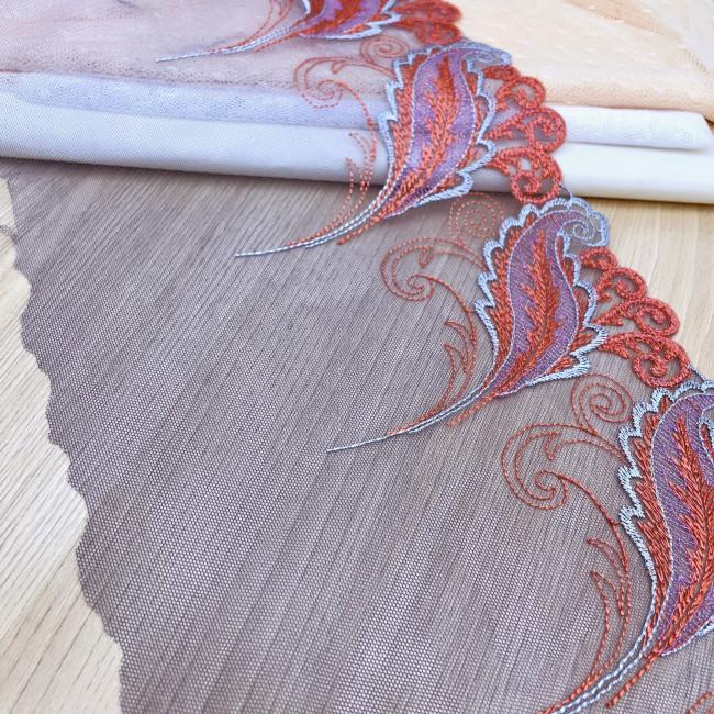 Вышивка на сетке В1-8 1 метр
