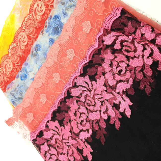 Отрезы вышивки на сетке ОВ-3. 0,5кг