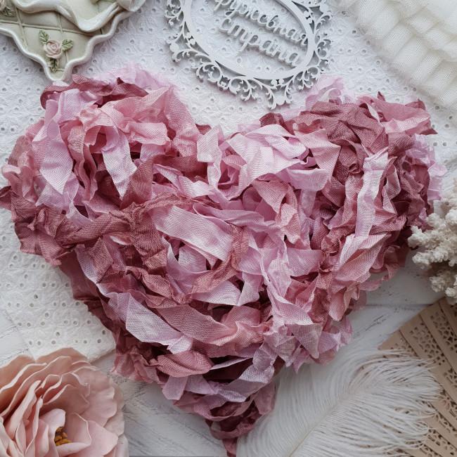 Набор шебби лент Винтажная роза